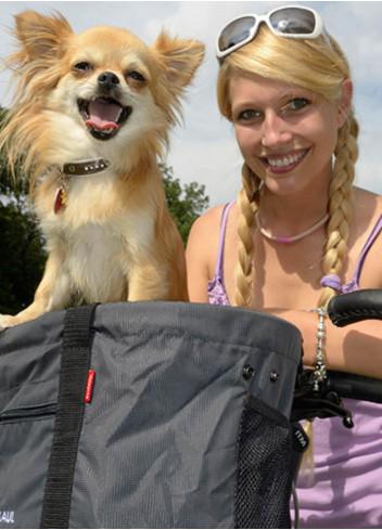 Sacoche chien pour support guidon - KLICKfix